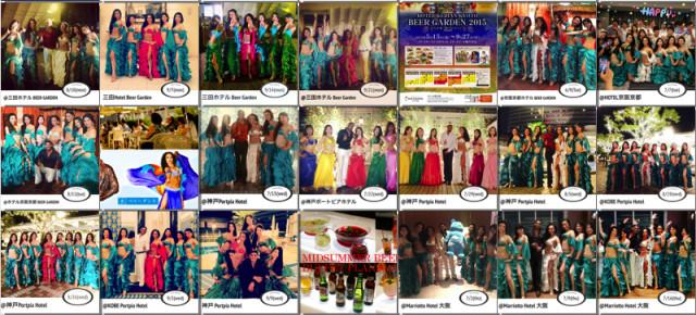 2015.6月〜9月迄 有名ホテル4カ所にて合計30公演レギュラーイベントベリーダンスショーご依頼いただきました。ありがとうございました!